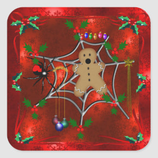 Trapped Gingerbread Square Sticker