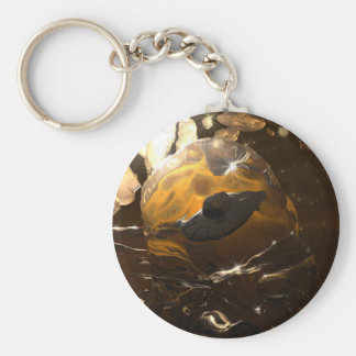 Trapped in Amber Keychain