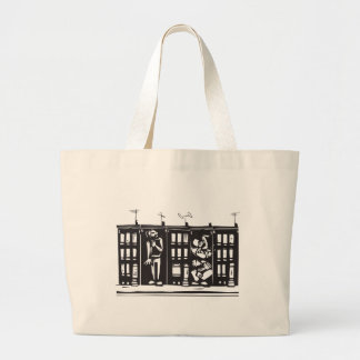 Trapped in Ghetto Large Tote Bag