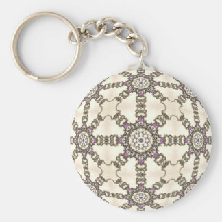 Trapped in Jewels Basic Round Button Keychain
