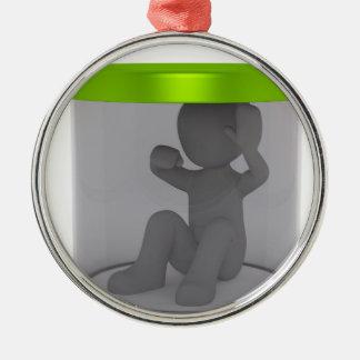 Trapped man metal ornament