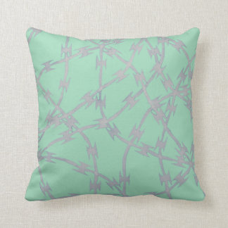 Trapped Mint Throw Pillows