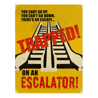 Trapped on an Escalator Postcard