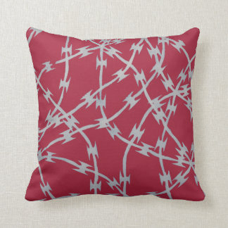 Trapped Red Throw Pillows