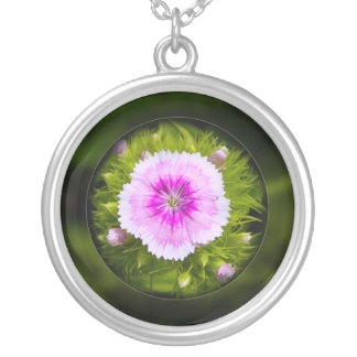 Trapped Round Pendant Necklace