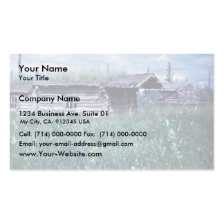 Trapper Cabin Along the Banks of the Coleen River Business Card