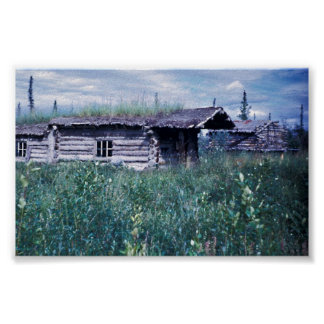 Trapper Cabin Along the Banks of the Coleen River Poster