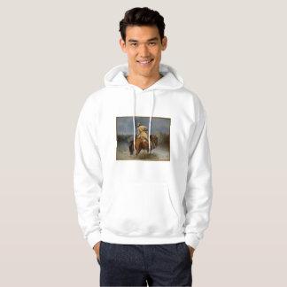 Trapper on a Men's Basic Hooded Sweatshirt