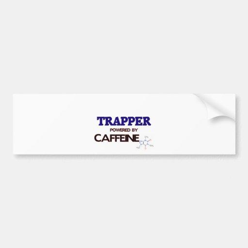 Trapper Powered by caffeine Car Bumper Sticker