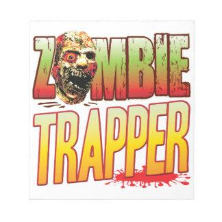 Trapper Zombie Head Scratch Pad