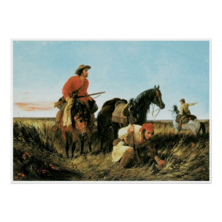 Trappers Following the Trail, 1851 Print