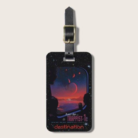 TRAPPIST-1 System Planet 1e retro space tourism ad Luggage Tag