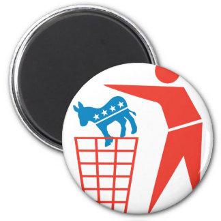 Trash a los Demócratas en 2012 Imán Redondo 5 Cm