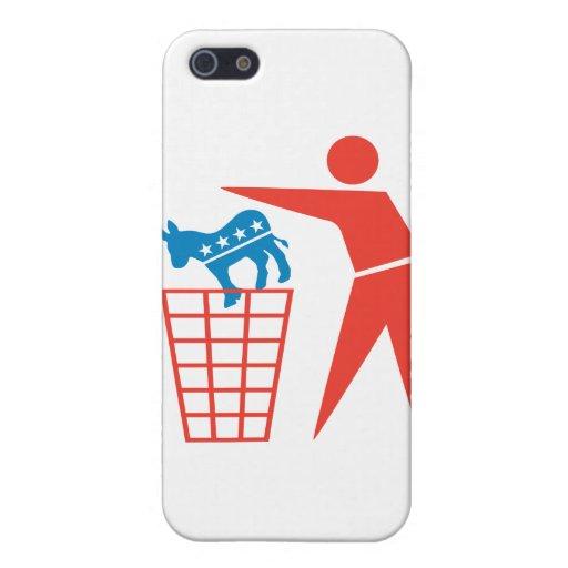 Trash a los Demócratas en 2012 iPhone 5 Fundas