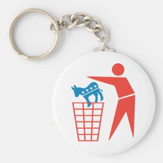 Trash a los Demócratas en 2012 Llavero Redondo Tipo Pin