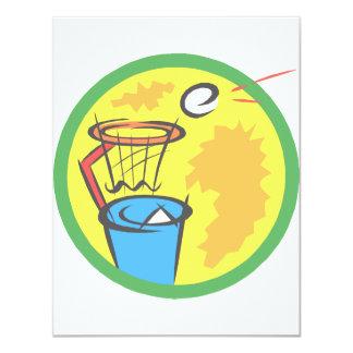 Trash Ball 4.25x5.5 Paper Invitation Card