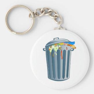 Trash Basic Round Button Keychain