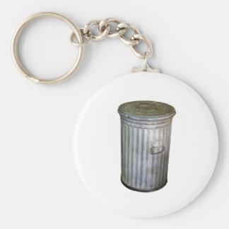 trash bin basic round button keychain