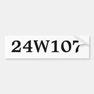 Trash Can Address Label - Black on White Car Bumper Sticker