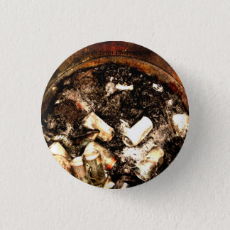 Trash Can Fire Pinback Button