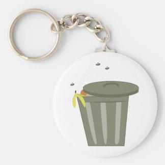 Trash Can Keychain