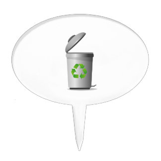 trash can lid open recycle symbol.png cake topper