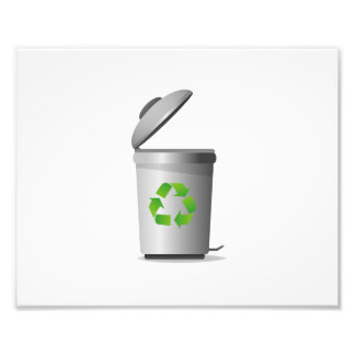 trash can lid open recycle symbol.png photo print