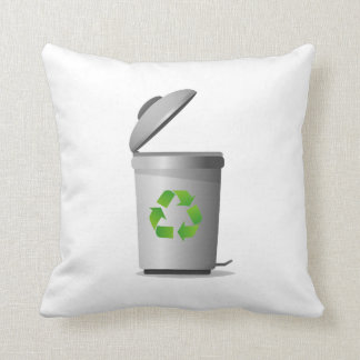 trash can lid open recycle symbol.png throw pillow