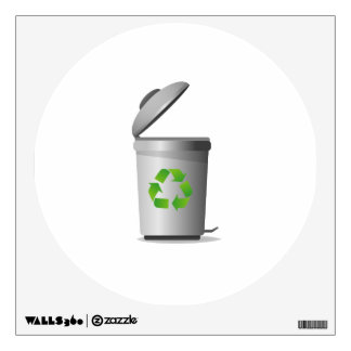 trash can lid open recycle symbol.png wall decal