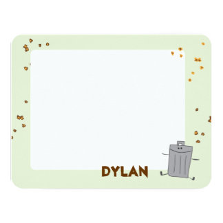 Trash Can Thank you 4.25x5.5 Paper Invitation Card