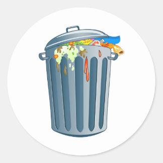 Trash Classic Round Sticker