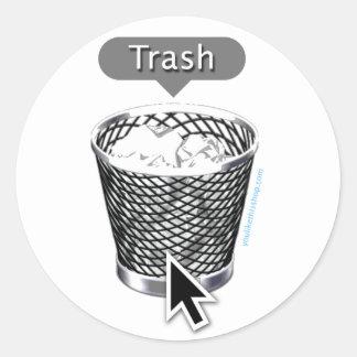 Trash. Classic Round Sticker