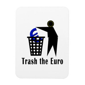 Trash el euro imán flexible