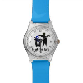Trash el euro reloj