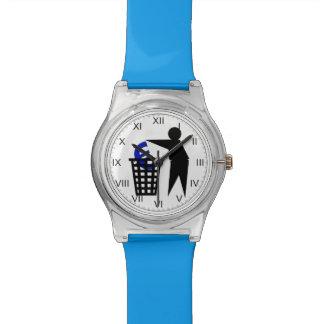Trash el euro relojes de pulsera