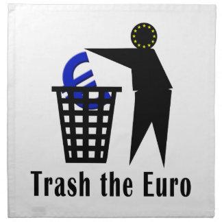 Trash el euro servilletas