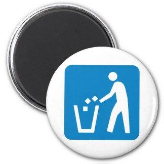Trash / Garbage / Refuse Highway Sign 2 Inch Round Magnet