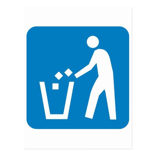Trash / Garbage / Refuse Highway Sign Postcard