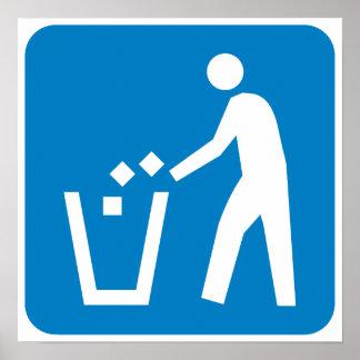 Trash / Garbage / Refuse Highway Sign Poster