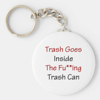 Trash Goes Inside The Fuing Trash Can Keychain
