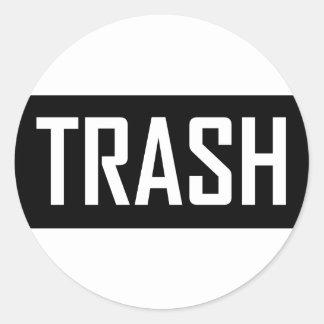 TRASH Hipster Cool Kid Trashy Earth Love Eco Love Classic Round Sticker