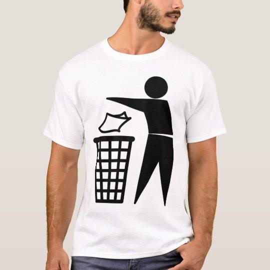 Trash Man Dumping Paper Trash T-Shirt