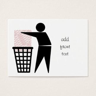 Trash Man Symbol (Add Photo) Business Card