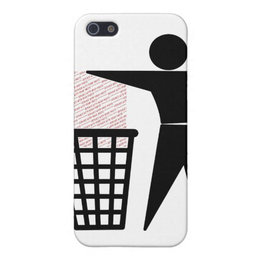 Trash Man Symbol (Add Photo) Case For iPhone 5