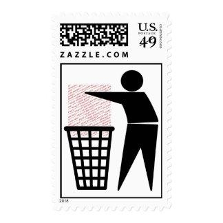 Trash Man Symbol (Add Photo) Stamps