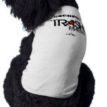 TRASH Martini Security Doggie Ribbed Tank Top Dog Clothes