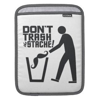 Trash Stache custom color iPad sleeve