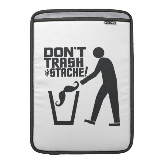 Trash Stache custom color MacBook sleeve