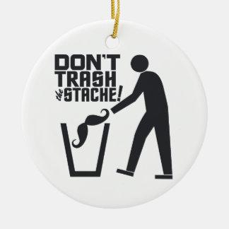 Trash Stache custom ornament