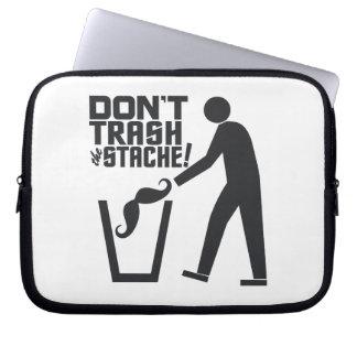 Trash Stache laptop sleeve